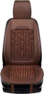 Cuentas de madera masaje en el asiento cómodo, respirable, respetuoso del medio ambiente, sin sabor, cuentas de madera único, asiento de coche fresco,Brown