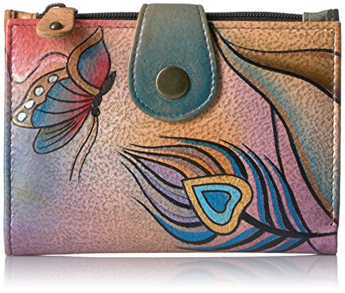 Anna by Anuschka Wallet | Genuine Leather | Peacock Butterfly