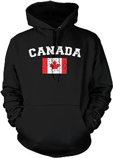 Amdesco Men's Canadian Flag, Flag of Canada, Canada Flag Hooded Sweatshirt