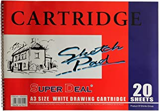 Super Deal SD62923 A3 Drawing Book White