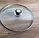 Fully Assembled Tempered Glass lid for Pots & Pans with Vent Hole Replacement Cover (9.5 INCH /24CM)