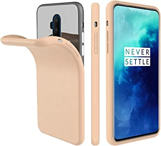 Compatible with OnePlus 7T Pro Case, Forhouse Anti-Scratch Cover Slim Soft TPU Bumper Flexible Rubber Silicone Shockproof Case for OnePlus 7T Pro (Sandstone Pink)