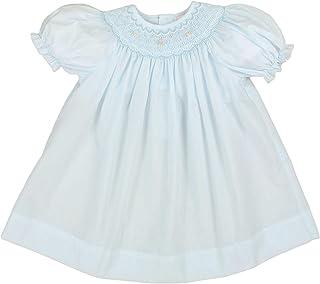 Petit Ami Baby Girls' Bishop Smocked Short Sleeve Dress