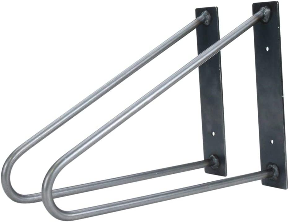 70% OFF Outlet Pair of Hairpin Shelf Brackets - Portland Mall Made USA Recycled 100% in from