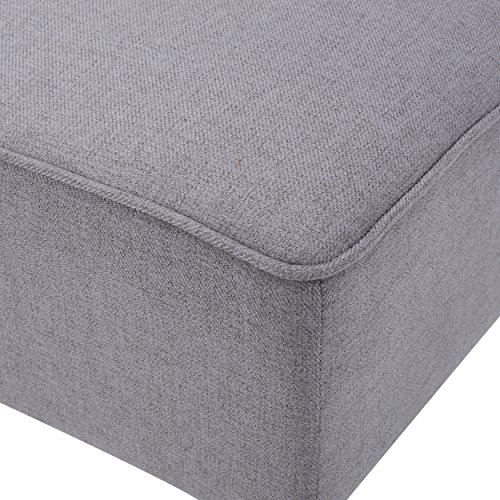 Christopher Knight Home 299748 Charlotte Light Grey Fabric Love Seat