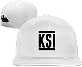 Beetful YouTube KSI Logo Plain Adjustable Snapback Hats Caps