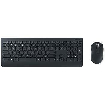 Microsoft – Wireless Desktop 900 – Ensemble clavier et souris sans fil avec récepteur USB, compatible Windows et macOS (Clavier AZERTY français) – Noir (PT3-00007)