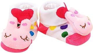 VIccoo, VIccoo Calcetines Bebe, Antideslizante Algodón Nacido Infantil de Dibujos Animados Zapatillas de Animales Botas Unisex - 7