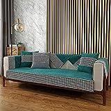 cubresofa,Protector sofas rinconeras,Fundas suaves para sofá de 2/3/4 plazas,funda de sofá de tela antideslizante para oficina / sala de estar,protector de sofá de chenilla resistente al desgaste-azu