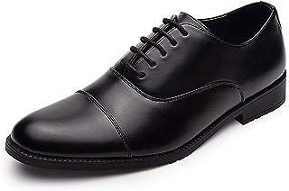 GM GOLAIMAN Men's Dress Shoes - Formal Lace Up Oxfords Cap Toe Balmoral Shoes