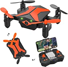 $49 » Mini Drone with Camera – Attop Drones for Kids & Beginners, RC Drone w/Camera, App/Gravity/Voice Control, AR Game/Altitude Hold/Headless Mode for Trajectory Flight, Easy to Use & Idea Gift for Kids