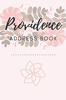 Address Book   Providence: 6 x 9 Inches   208 Entries   104 Pages   Contact Book   Alphabetical with Letter on Each Page  ...