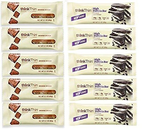 thinkThin Cookies & Cream + Brownie Crunch (Pack of 10)