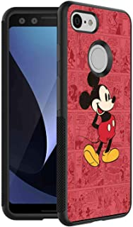 Phone Case Compatible for Google Pixel 3 (2018) 5.5 Version Cartoon Classic Disney Icon Mickey Mouse Old Oldie Red Ringtones and Wallpapers