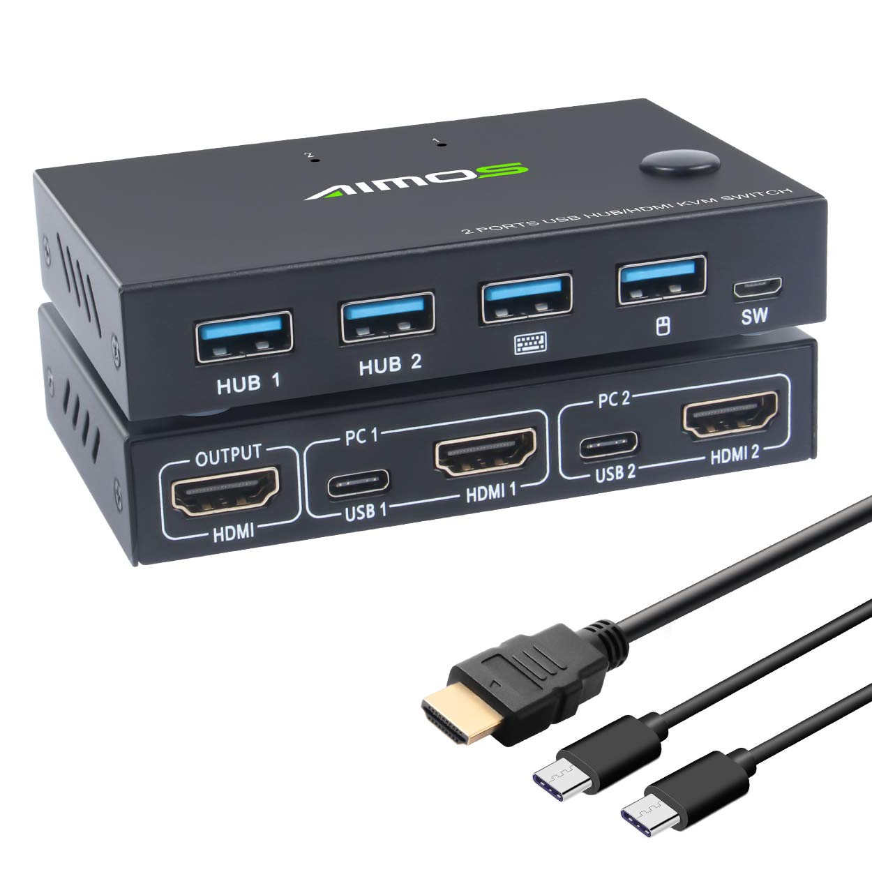 KVM Switch HDMI 2 Award Port Box Switches KCEVE and 4 Soldering Hu USB
