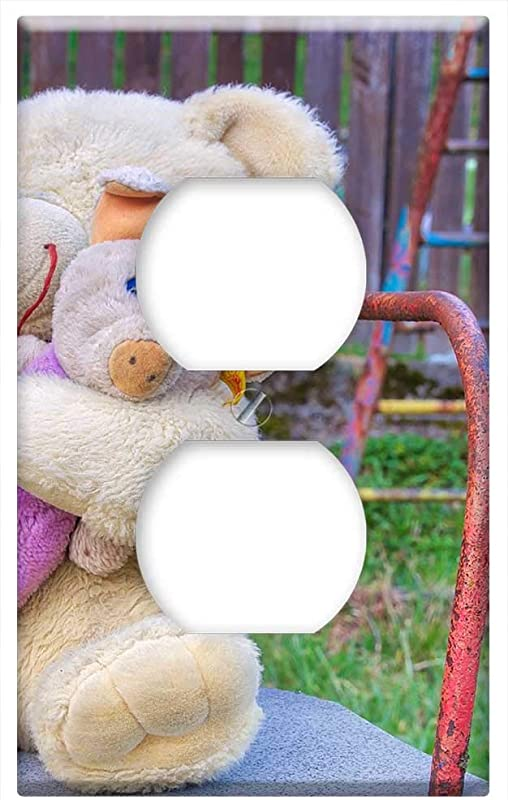 Switch Plate Outlet Cover Carousel Teddy Toys Teddy Bear Colorful Playground