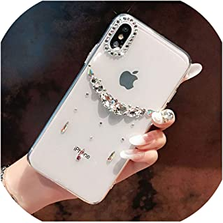 Phone case Bling Rhinestone Case for iPhone Xs Max XR X 8 7 6 6S Plus Diamond Crystal Soft Transparent TPU Cover for iPhone 11 Pro Max Case,for iPhone 11 Pro,C