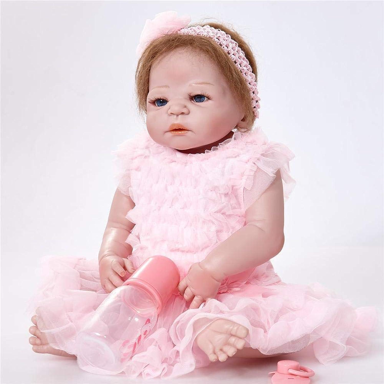 Hongge Reborn Baby Doll,Volle Silikon Vinyl Reborn Babypuppe realistische weiblichen Babys Puppen lebensecht Prinzessin Kids Toy Kinder Geburtstagsgeschenk 58cm B07HQTCB9L Marke  | Online Outlet Shop