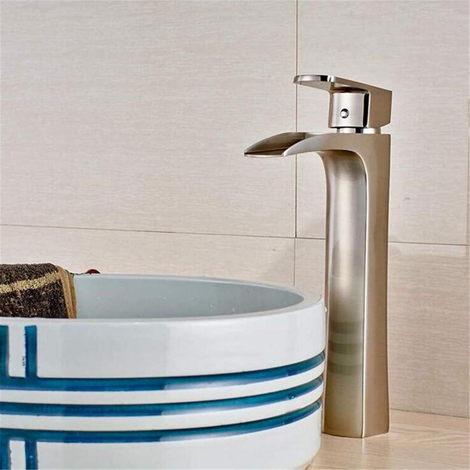 Faucet Modern Plated Kitchen Bathroom Faucet Basin Faucet Sink Faucet Deck Mounted Countertop Washbasin Hot and Cold Taps