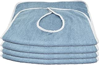 Deluxe Adult Terry Cloth Bibs - 3PK Blue