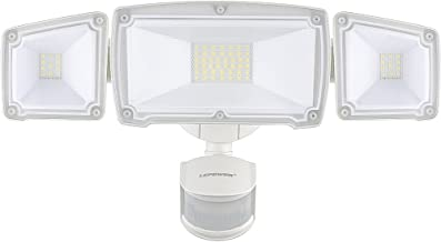 LEPOWER 3500LM LED Security Lights, 39W Super Bright Outdoor Motion Sensor Light, 6000K, IP65 Waterproof, 3 Adjustable Heads & ETL Certified Motion Activated Flood Light for Entryways, Yard