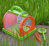 ACHICOO Boîte de Rangement pour Insectes, Terrarium, Pince à épiler Papillons, Culture de Soie, Herbe, Jardin d'enfants, activités de Plein air, Cadeaux Amusants pour Enfants Vert