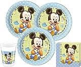 52 Teile Disney Baby Micky Party Deko Set für 16