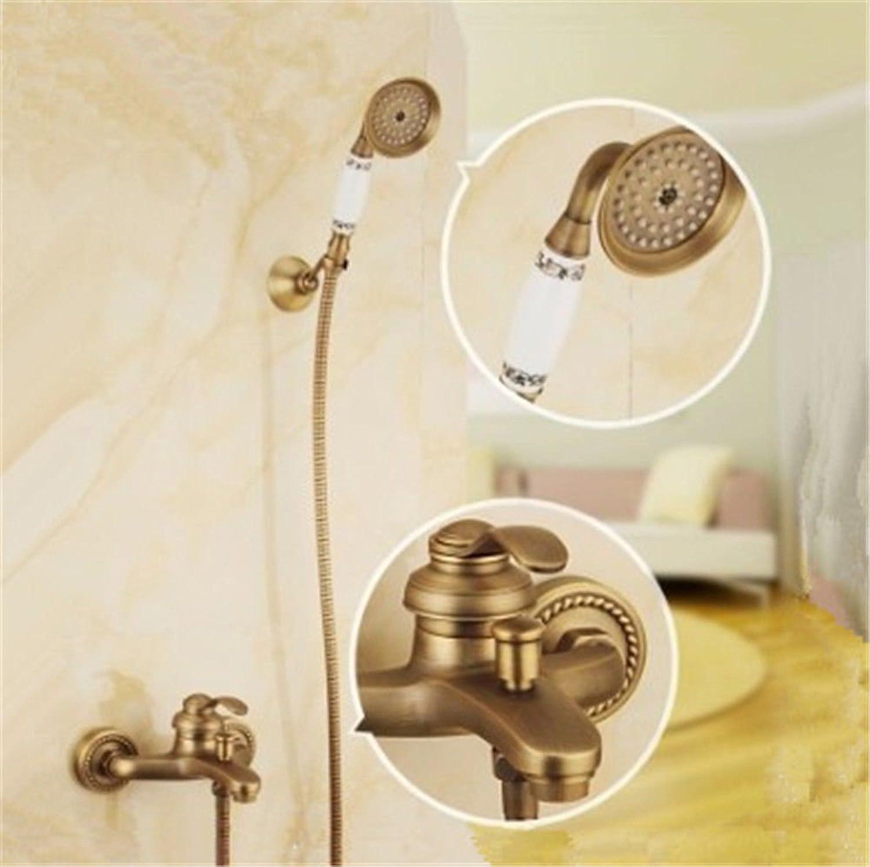 S.TWL.E Küche Küchenarmatur Waschtischarmatur Mischbatterie Spülbecken Armatur Armatur Wasserhahn Bad Antique Bathtub 3 Lead Wall Simple Shower Bathroom Shower B