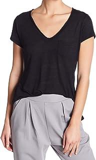 Alternative Women's Black US Size Small S V Neck Pocket T-Shirt Top