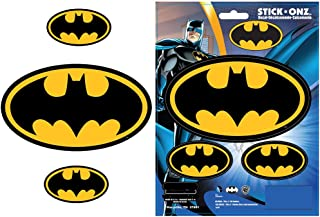 Batman Colored Bat Logo Superhero DC Comics Movie Auto Car Truck SUV Vehicle Garage Home Office Wall Decal Sticker - 3pc Stick Onz