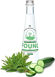 Found Naturally Infused Sparkling Water - Cucumber & Mint - 11.2 oz (330 ml) Glass Bottles (12 Glass Bottles)