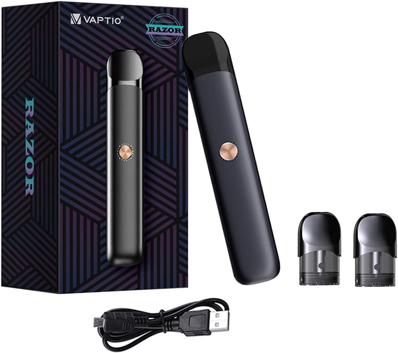 Vaptio Razor Kit Vape Pen Starter Kit con 550mAh Batería 2.0ML Atomizador Kit de vaporizador de cigarrillo electrónico Sin líquido E Sin nicotina