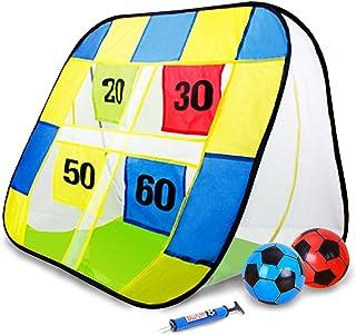 Fatrys ストラックアウト サッカー ゴール ボール ハンドボール 折りたためる おもちゃ アウトドア 多人数で楽しめる 減圧ゲーム レント 親子ゲーム 子供 ギフト 柔らかいボール付き