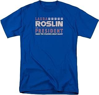 Battlestar Galactica New Series Roslin for President Licensed T-Shirt