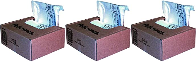 $85 » Fellowes Powershred Shredder Bags for All Personal Models, 100 Bags & Ties (36052)-3 Pack