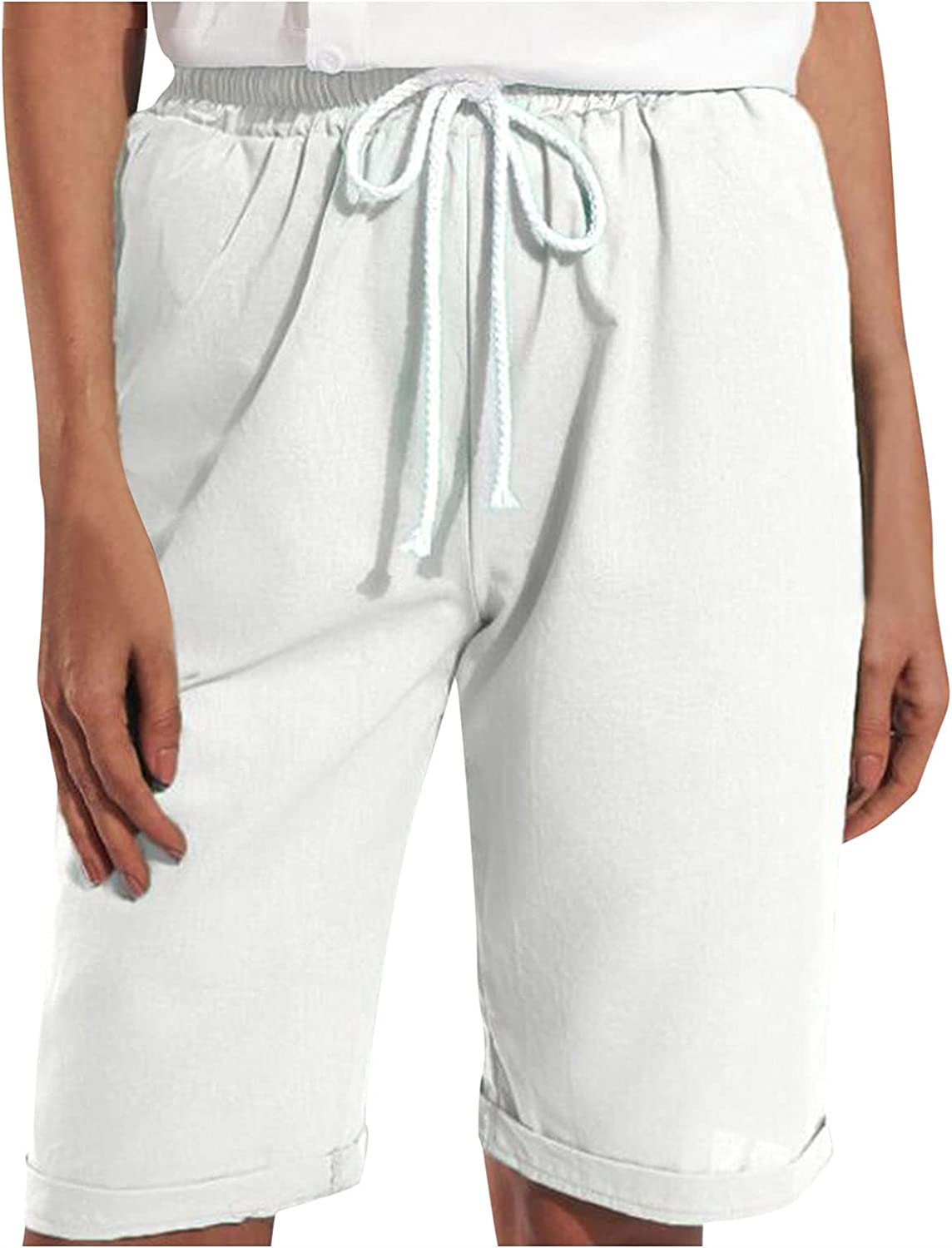 Bermuda Shorts Max 72% OFF for Women Casual Linen Comf Cotton Womens Summer safety