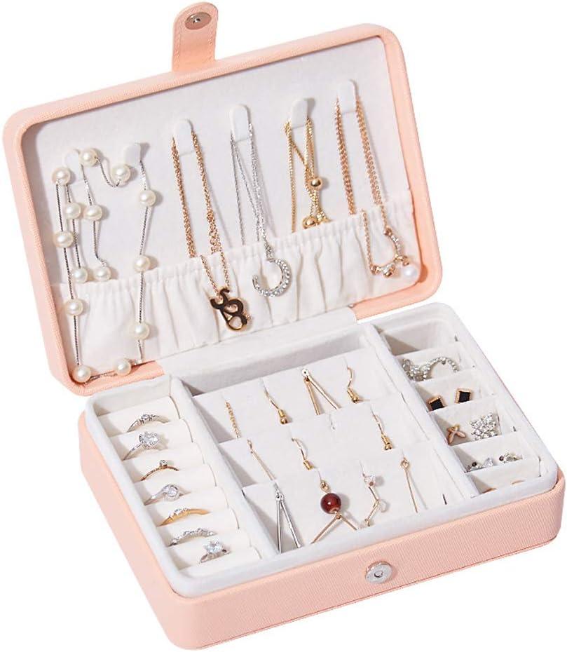 QVIVI Jewellery Box Small Travel Case Max 73% OFF Jewelry PU Organi Leather Philadelphia Mall