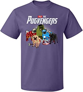 ILLO COAST Pugvengers T-Shirt Pug Dogs A-ven-gers Team Funny Gifts for Mens Womens Fan Up to 5XL
