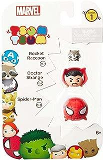 Tsum Tsum Marvel 3-Pack: Spiderman/Dr. Strange/Rocket Toy Figure