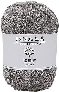 Fan-Ling 1PCS 50g Milk Cotton,4 Strands Baby Line DIY Doll Cotton Thread Crochet Baby Wool,Assorted Colors Smooth DIY Hand Knitting Baby Craft Shawl Scarf Crochet Thread Supplies (G)