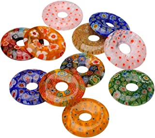 glass donut pendant