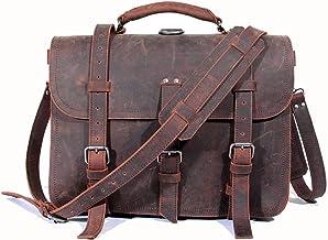 LBYMYB Crazy Horse Leather Bag Domineering Travel Bag Portable Diagonal Bag Shoulder Bag, 47x16x30cm Business Briefcase