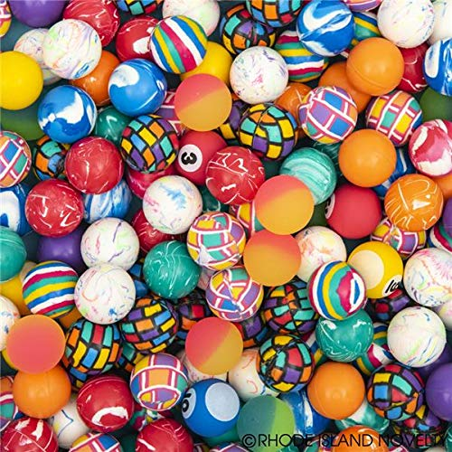 Rhode Island Novelty 27mm Assorted Bounce Balls, 500 Count
