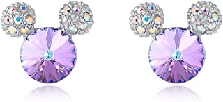 Mouse Stud Earrings for Girls/Women,Made with Swarovski Crystal Lovely Earrings Jewelry Gift