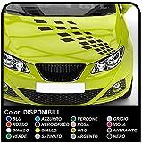 Selbstklebende Aufkleber Motorhaube Streifen Zielflagge für Auto Dekoration Aufkleber klebrigen Bänder Haube Fronthaube Motorhaube Streifen Sportwagen-tuning (EINE ANDERE FARBE (KONTAKT))