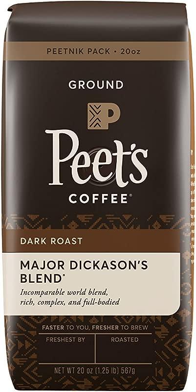 Peet S Coffee Major Dickason S Blend Dark Roast Ground Coffee 20 Ounce Bag Peetnik Value Pack