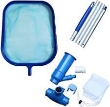 "GKanMore Pool Vacuum Head and Skimmer Net Set Included 47"" Detachable Pole, Spa Pond Swimming Pool Cleaning Supplies and A..."