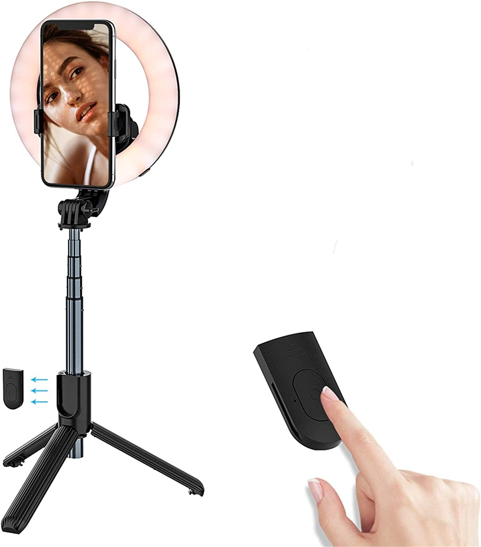 Cash special price U S New Wireless Bluetooth Selfie Ph Bracket Max 51% OFF Stick Fill-in Light