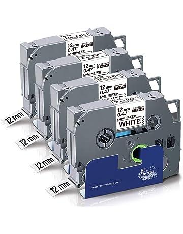 4X Pristar 12mm Compatible TZe-FA3 Cintas de Etiquetas para Brother TZeFA3 Azul sobre Blanco Tz Cinta Textil para Brother P-Touch PT-H100 P900W H110 E550WVP H107B D210 P750W D400 H105 E110VP
