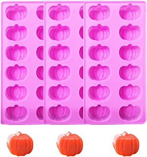 Silicone Candy Mold - Halloween Pumpkins Chocolate Mold for Cake Decoration Set of 3